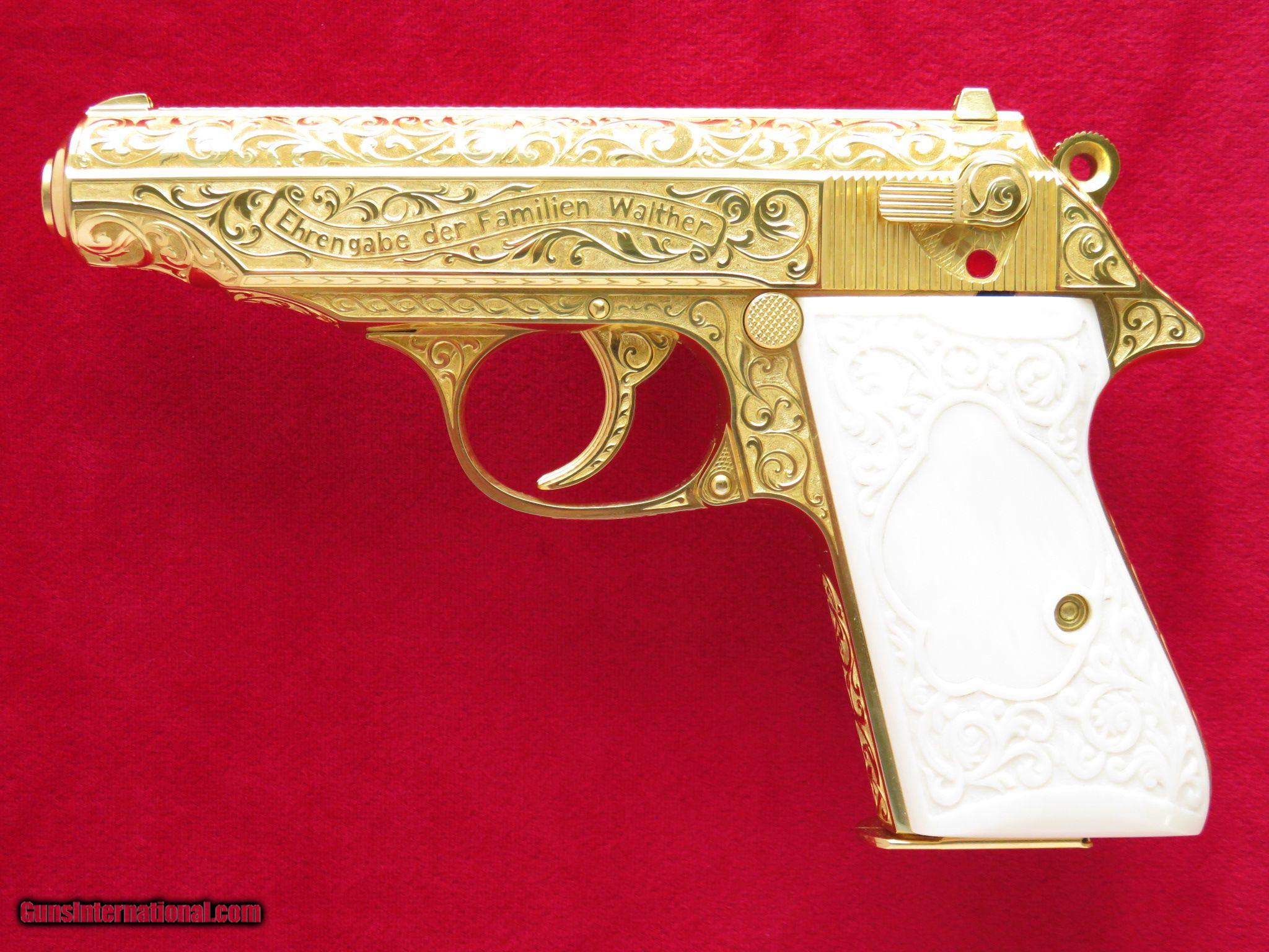 Walther PP, Gold Plated, Fully Engraved by Tim George, Copy of Adolf