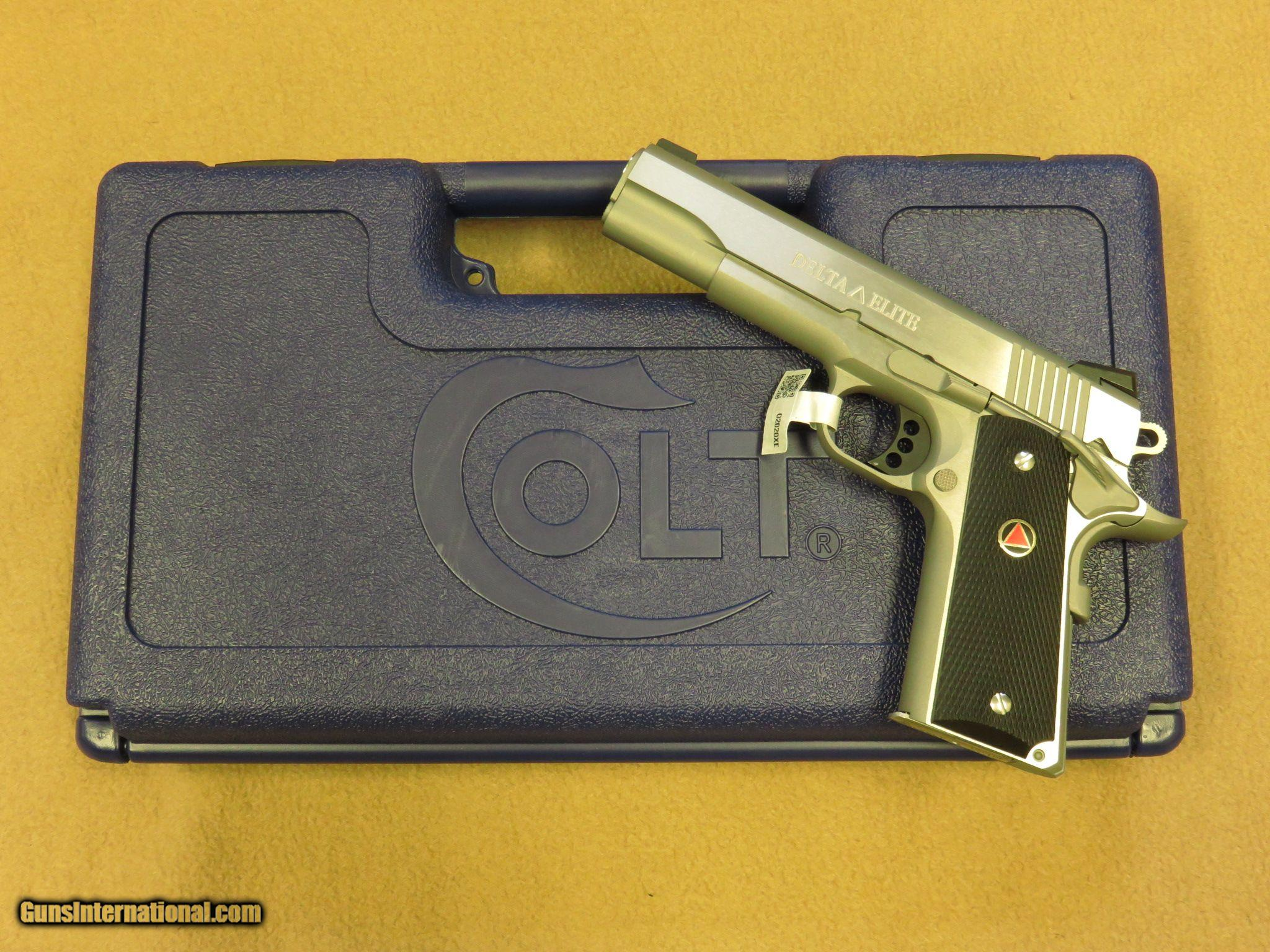 Colt Delta Elite 1911 Government Model Cal 10mm Stainless Steel