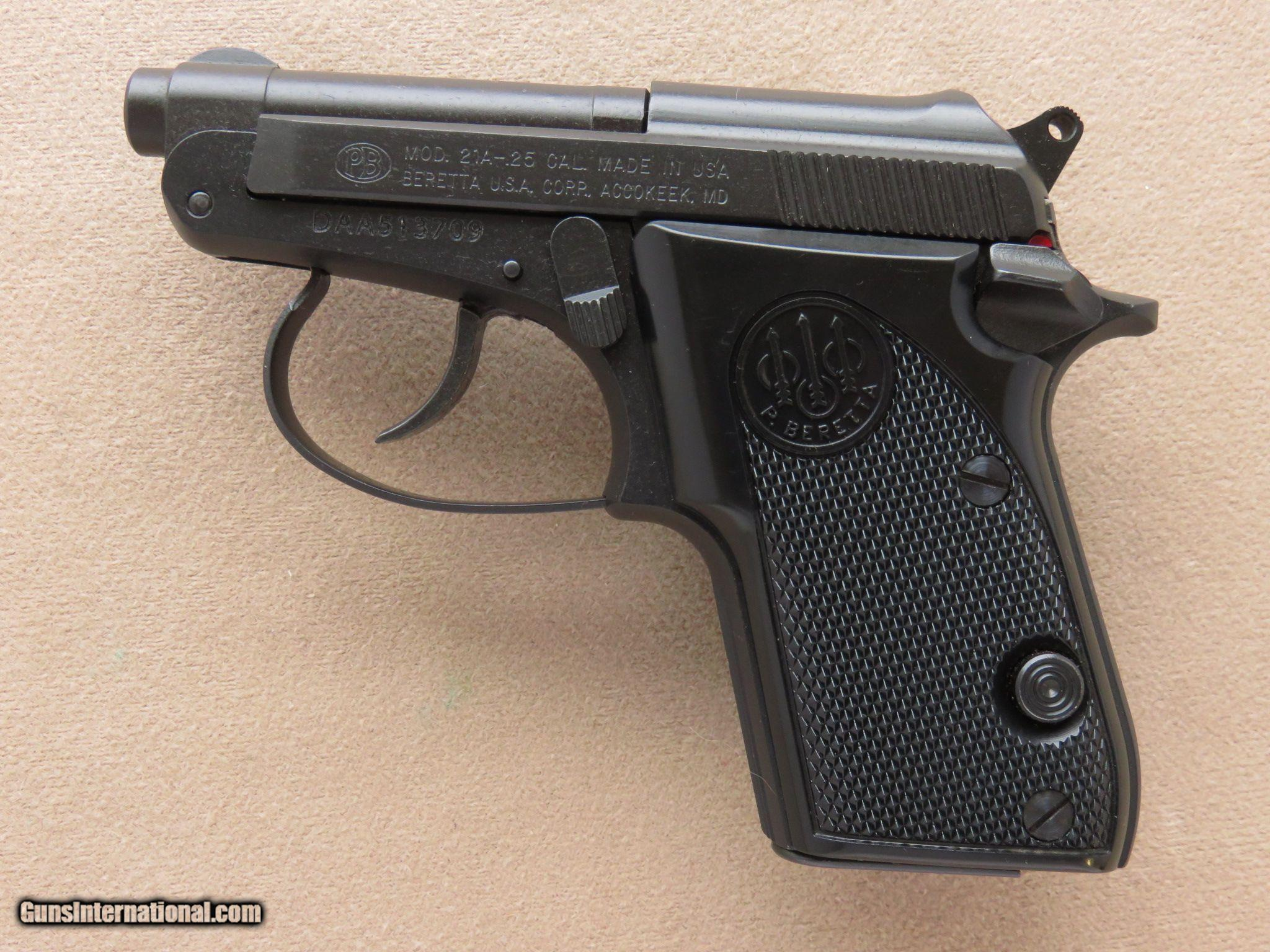 Beretta Model 21A Bobcat, Cal   25 ACP