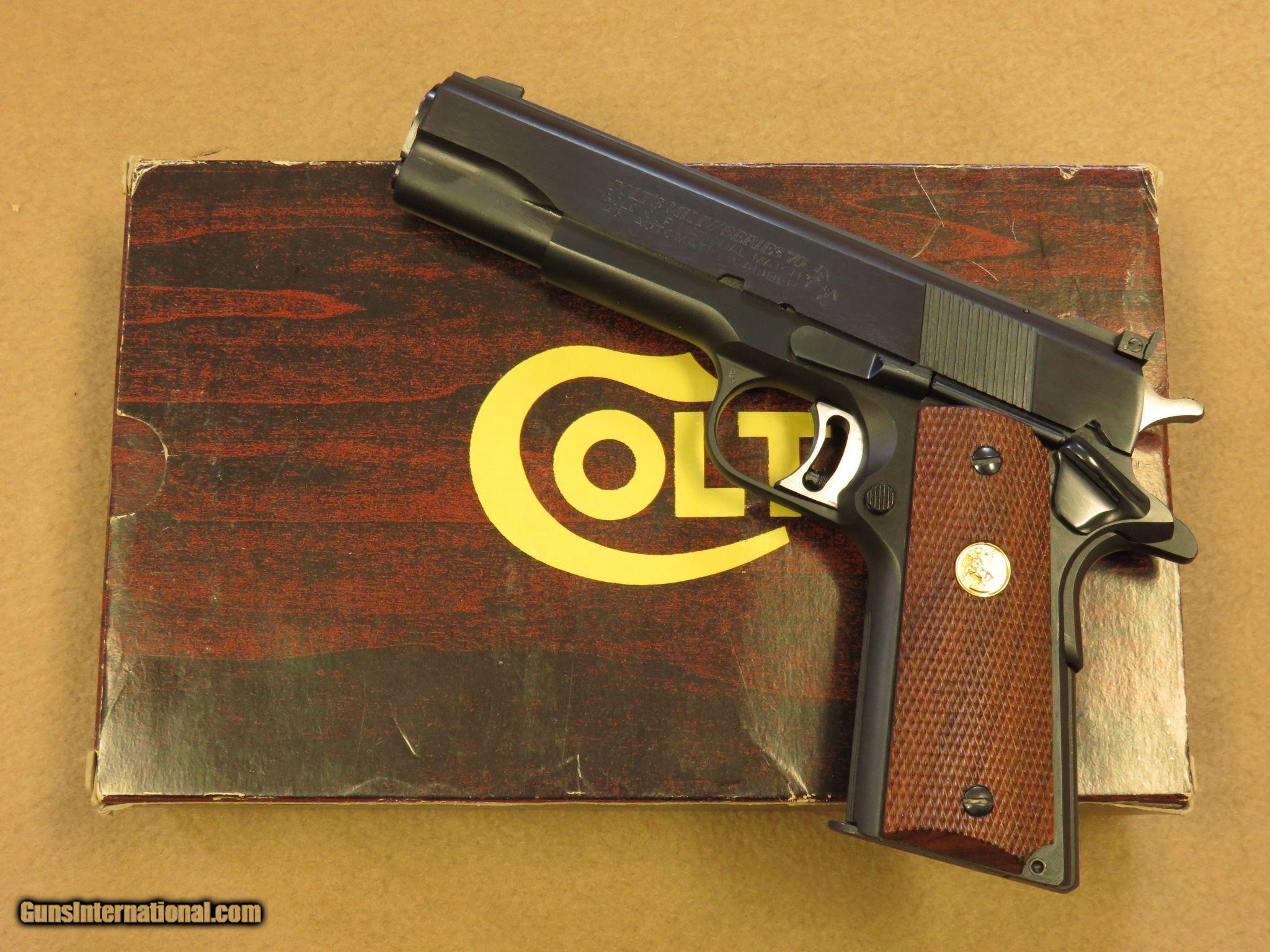 Colt Mk Iv Series 70 Gold Cup National Match Cal 45 Acp