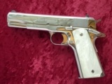 "Colt ""El Cen"" .38 Super 1911 Custom Shop Pistol in Bright Stainless-- Beautiful Pistol!!!"