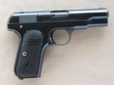 Colt Model 1903 Pocket Type III, Cal. .32 ACP, Fire Blue Finish, 1911 Vintage - 8 of 8