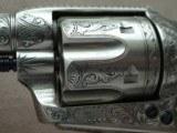 """Colt SAA Sheriff's Model Nickel .45 L.C. 4"""" Barrel1st Generation **Ben Lane Engraved** - 22 of 24"""
