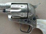 """Colt SAA Sheriff's Model Nickel .45 L.C. 4"""" Barrel1st Generation **Ben Lane Engraved** - 4 of 24"""