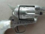 """Colt SAA Sheriff's Model Nickel .45 L.C. 4"""" Barrel1st Generation **Ben Lane Engraved** - 7 of 24"""