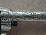 """Colt SAA Sheriff's Model Nickel .45 L.C. 4"""" Barrel1st Generation **Ben Lane Engraved** - 20 of 24"""