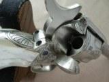 """Colt SAA Sheriff's Model Nickel .45 L.C. 4"""" Barrel1st Generation **Ben Lane Engraved** - 19 of 24"""