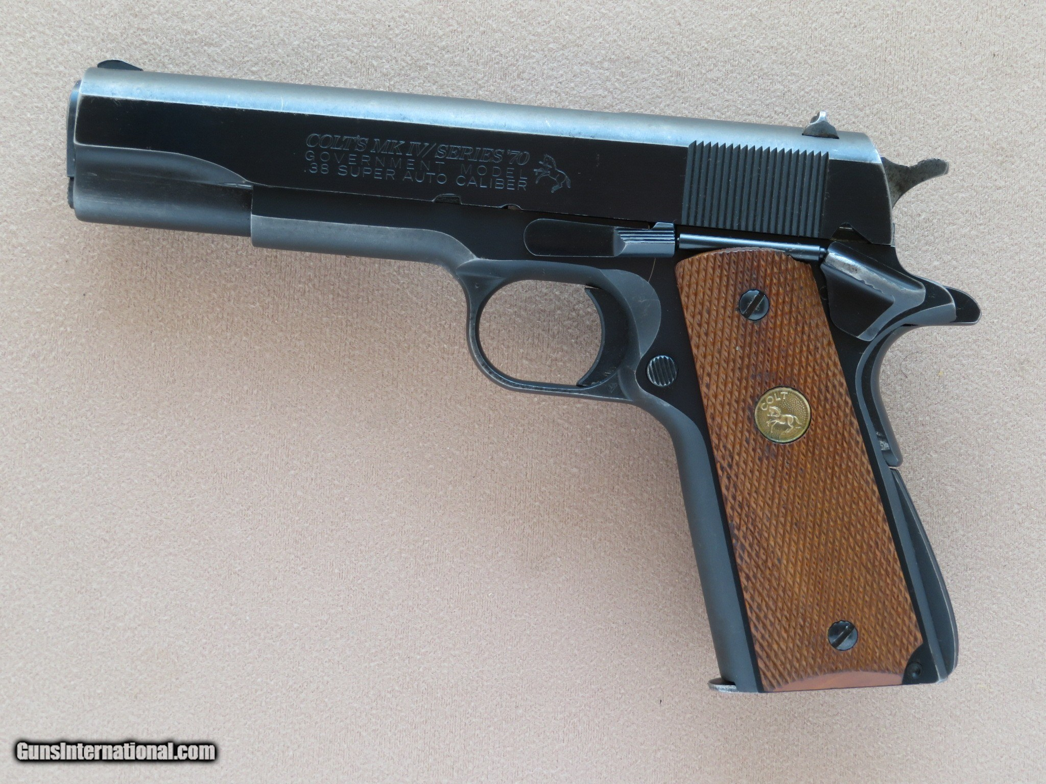 colt government model mkiv series 70 1911 cal 38 super 1981