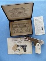 Colt Model 1908 Pocket .380 A.C.P. ***Factory Nickel W/ Factory Pearl Grips** LNIB
