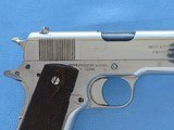 Colt 1911 Government Commercial 45 A.C.P. Nickel **MFG. 1917** - 7 of 19