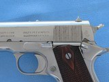 Colt 1911 Government Commercial 45 A.C.P. Nickel **MFG. 1917** - 4 of 19