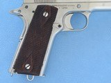 Colt 1911 Government Commercial 45 A.C.P. Nickel **MFG. 1917** - 6 of 19