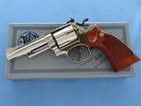 "Smith & Wesson Model 19-3 .357 Magnum Nickel 4"" Barrel **MFG. 1978**"