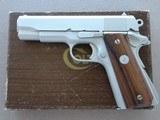 1972 Colt Combat Commander .45 ACP Pistol in Satin Nickel Finish w/ Box & Paperwork*** FLAT MINT!! ***