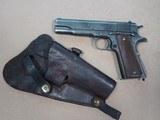 WW2 1943 Remington Rand 1911A1 .45 Pistol w/ Holster** 100% Original & Correct **