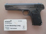FN (Browning) Model 1903 9MM Browning Long **Cut for Shoulder Stock**