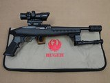 Ruger Charger .22 Pistol w/ Factory Case, UTG Bipod, Muzzle Device, and Barska Sight