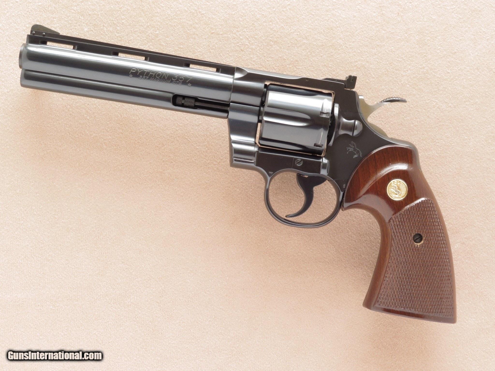 Colt Python, 6 Inch Barrel, Cal   357 Magnum, with Original Box