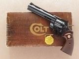 Colt Python, 6 Inch Barrel, Cal. .357 Magnum, with Original Box & Paper-work, 1977 Vintage