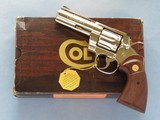 Colt Python, 4 Inch Nickel, Cal. .357 Magnum, with Box