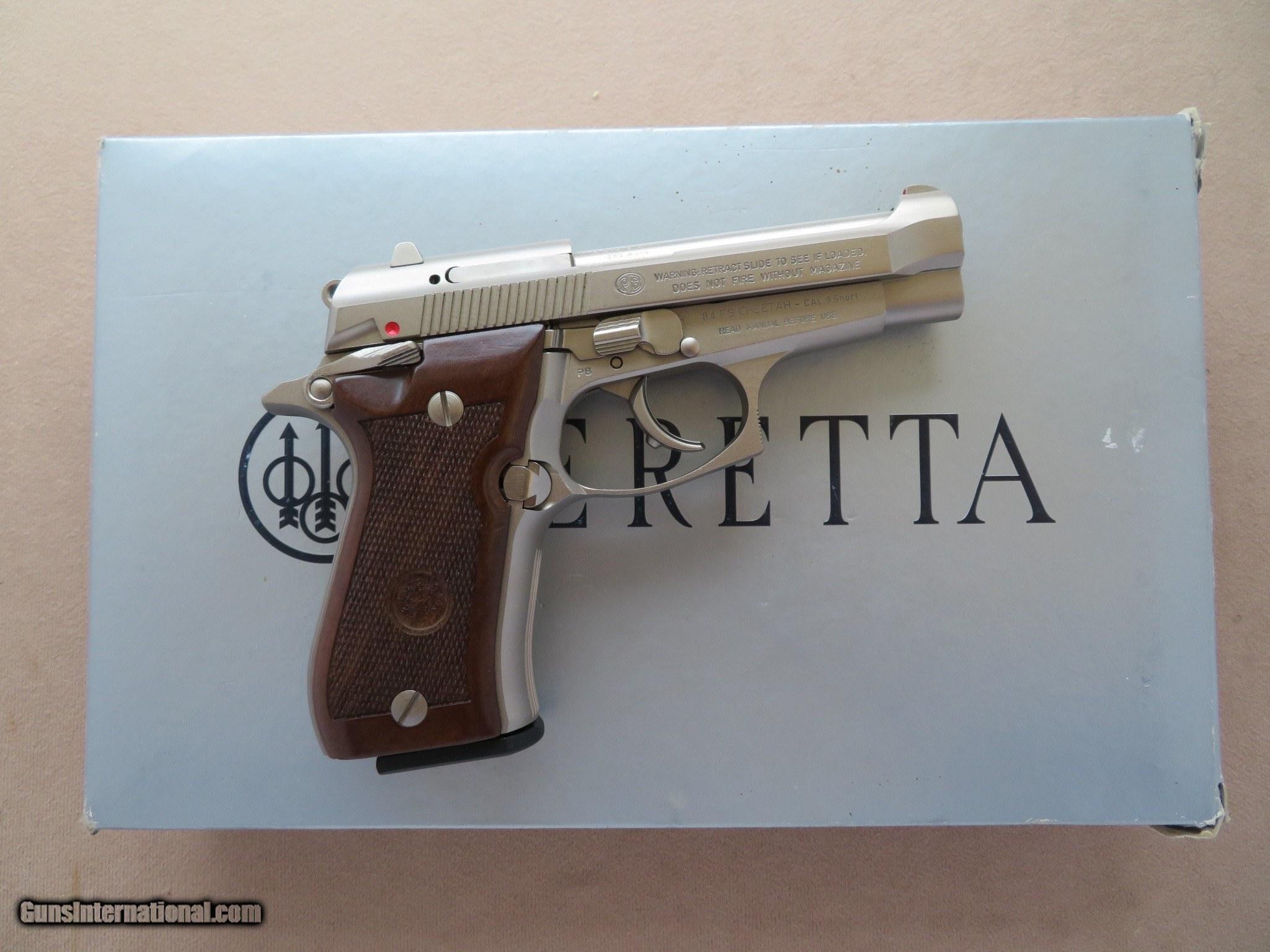 Beretta Model 84FS Cheetah Nickel  380 A C P  **ANIB**