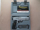 Browning Hi Power Satin Chrome P35 .40 S&W W/ Adjustable Sights Belgium Made in 1996