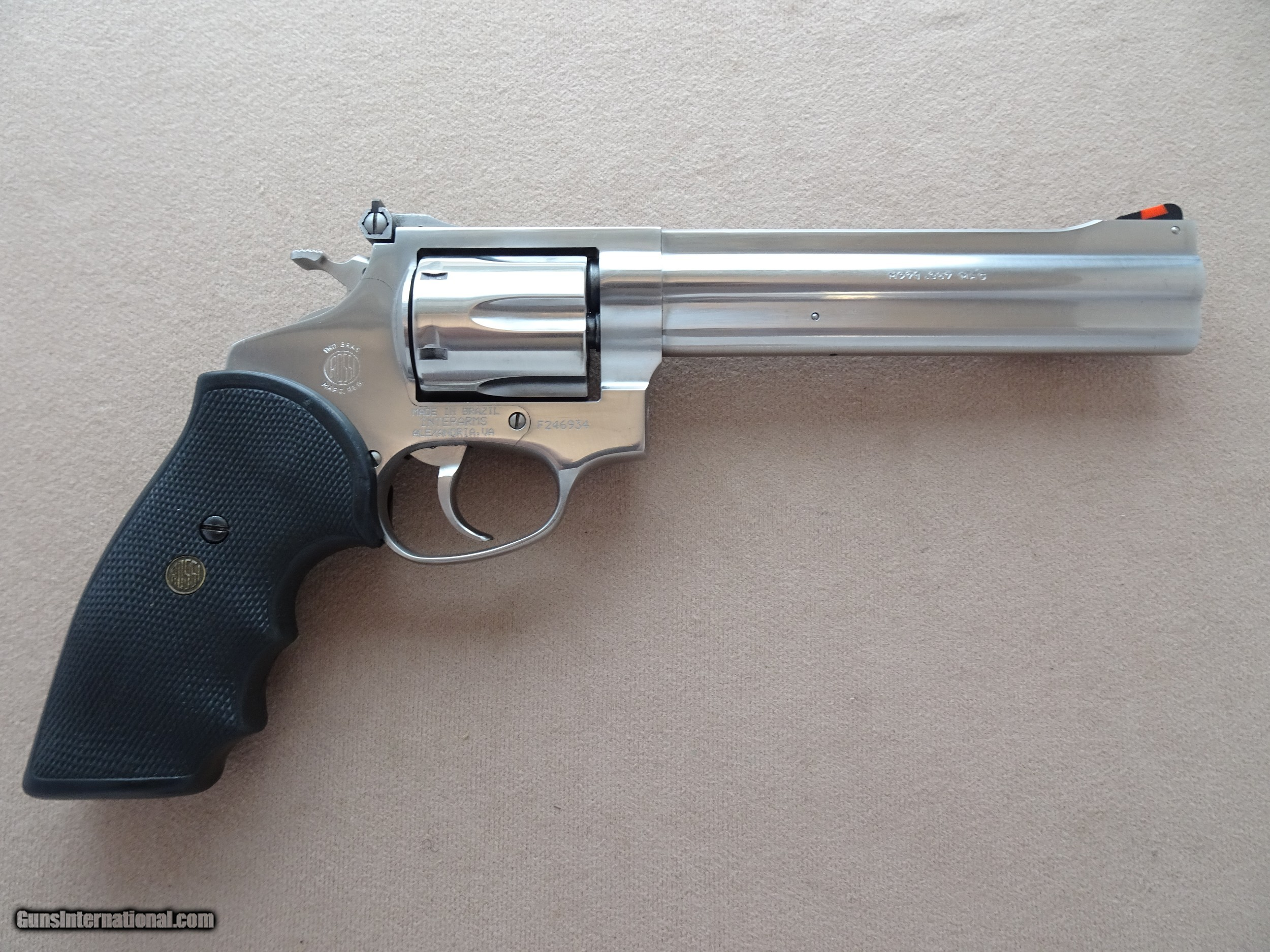 Rossi Model 971 Stainless Steel  357 Magnum Revolver w/ 6