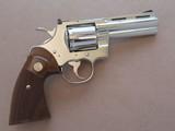 "Colt Python 357 Magnum 4"" Nickel **Mfg. 1965**"