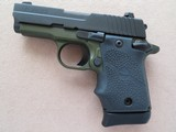 Sig Sauer Model P938 Micro 2-tone Army Green 9mm **LNIB w/ night sights & 3 mags** - 4 of 17