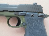 Sig Sauer Model P938 Micro 2-tone Army Green 9mm **LNIB w/ night sights & 3 mags** - 10 of 17