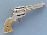 Colt Single Action Army, Black Powder Frame, Cal. .45 LC, Nickel Finished, 1988 Vintage