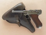 """Mauser """" 42 """" Luger, 1939 Dated, Cal. 9mm, with 1939 Dated Holster"""