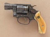 Smith & Wesson Model 36, Engraved with Gold Inlay Bands, Cal. .38 Special