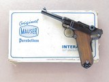"Mauser / Interarms ""Swiss-Style"" Mauser Eagle Luger, Cal. 9mm, 4 Inch Barrel, Post WWII"