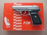 Sig Sauer Model P 230 SL Stainless Steel .380 ACP ** Early West German Import 1986** SOLD
