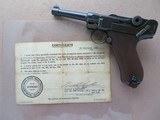 Beautiful DWM 1908 Commercial Luger 9mm WW2 Vet Bring Back **W/ Capture Papers** SOLD