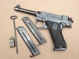 1946 Danish Police Husqvarna M40 Lahti 9mm Pistol Complete Rig** Nice Original Danish Police Lahti Rig! ** - 25 of 25
