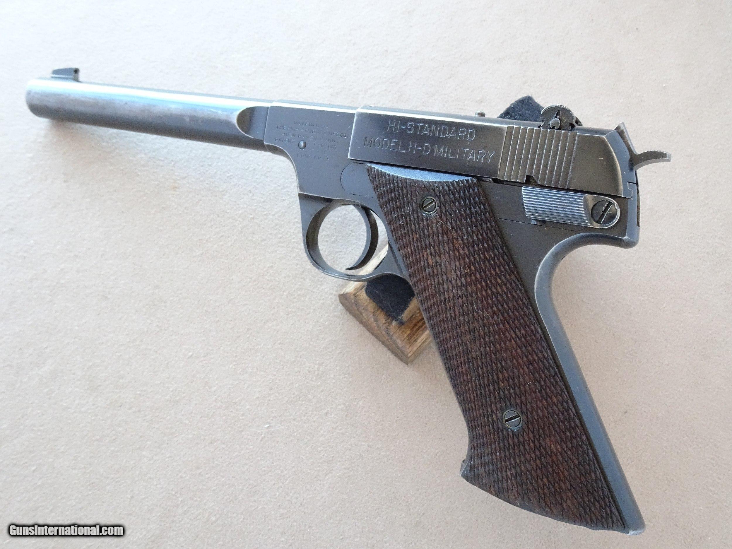 Early 1950's Vintage Hi Standard H-D Military  22 LR Pistol