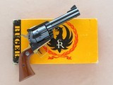Ruger Blackhawk with Brass Grip Frame (Factory), Cal. .45 Long Colt, 4 5/8 Inch Barrel, with Factory Letter - 1 of 16