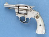 Colt Police Positive with Pearl Grips, Cal. .32, 1921 Vintage, 2 1/2 Inch Nickel Finished