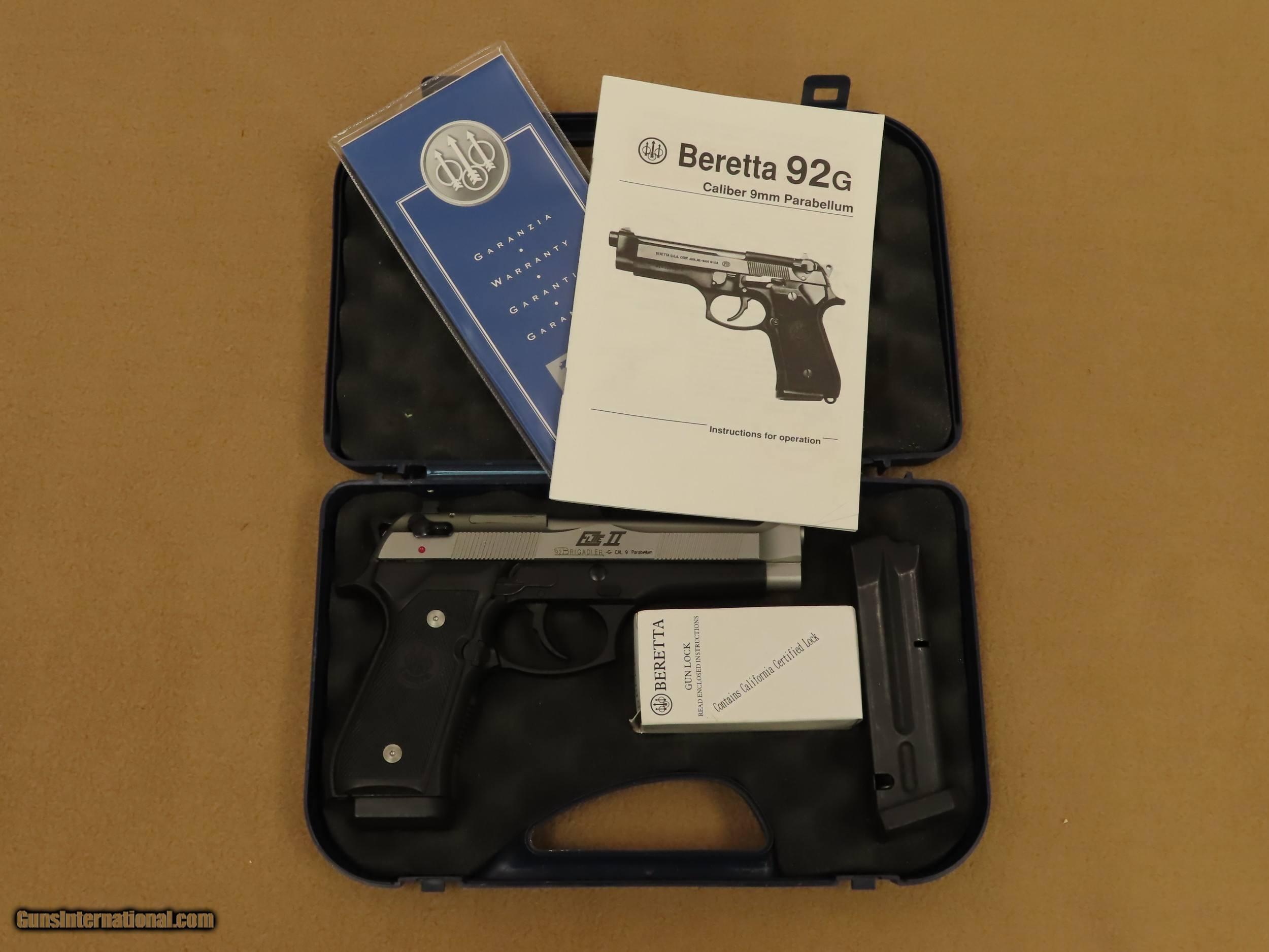 2003 Vintage Beretta Model 92G Elite II Brigadier 9mm Pistol w