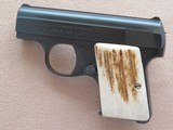 Browning Baby Model 6.35 MM (.25 ACP)**Mfg. 1961 w/ Stag Handles & Original Pouch** SOLD
