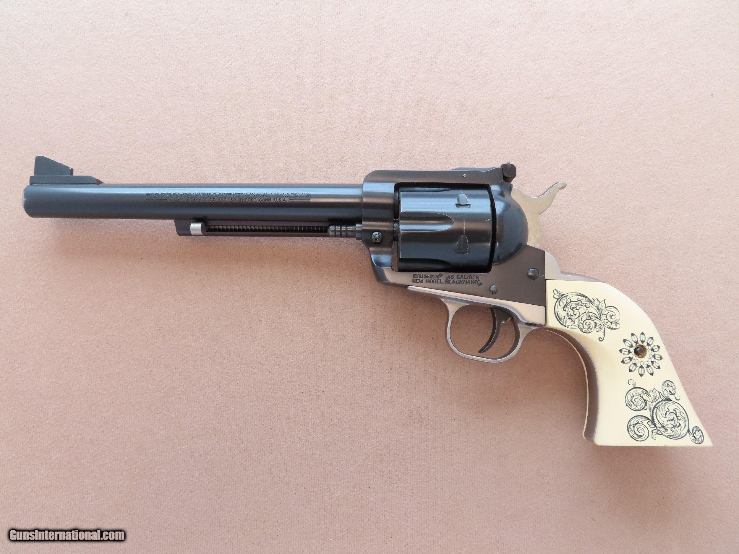 1981 Vintage Ruger New Model Blackhawk in  45 Colt w/ Polished Grip