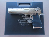 1990's Vintage IWI Israeli Magnum Research Desert Eagle Mark VII .50AE Caliber in Bright Nickel Finish