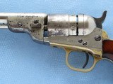 Colt Pocket Navy Conversion, Cal. .38 RF, 4 1/2 Inch Barrel, Nickel Finished - 4 of 11