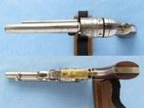 Colt Pocket Navy Conversion, Cal. .38 RF, 4 1/2 Inch Barrel, Nickel Finished - 5 of 11