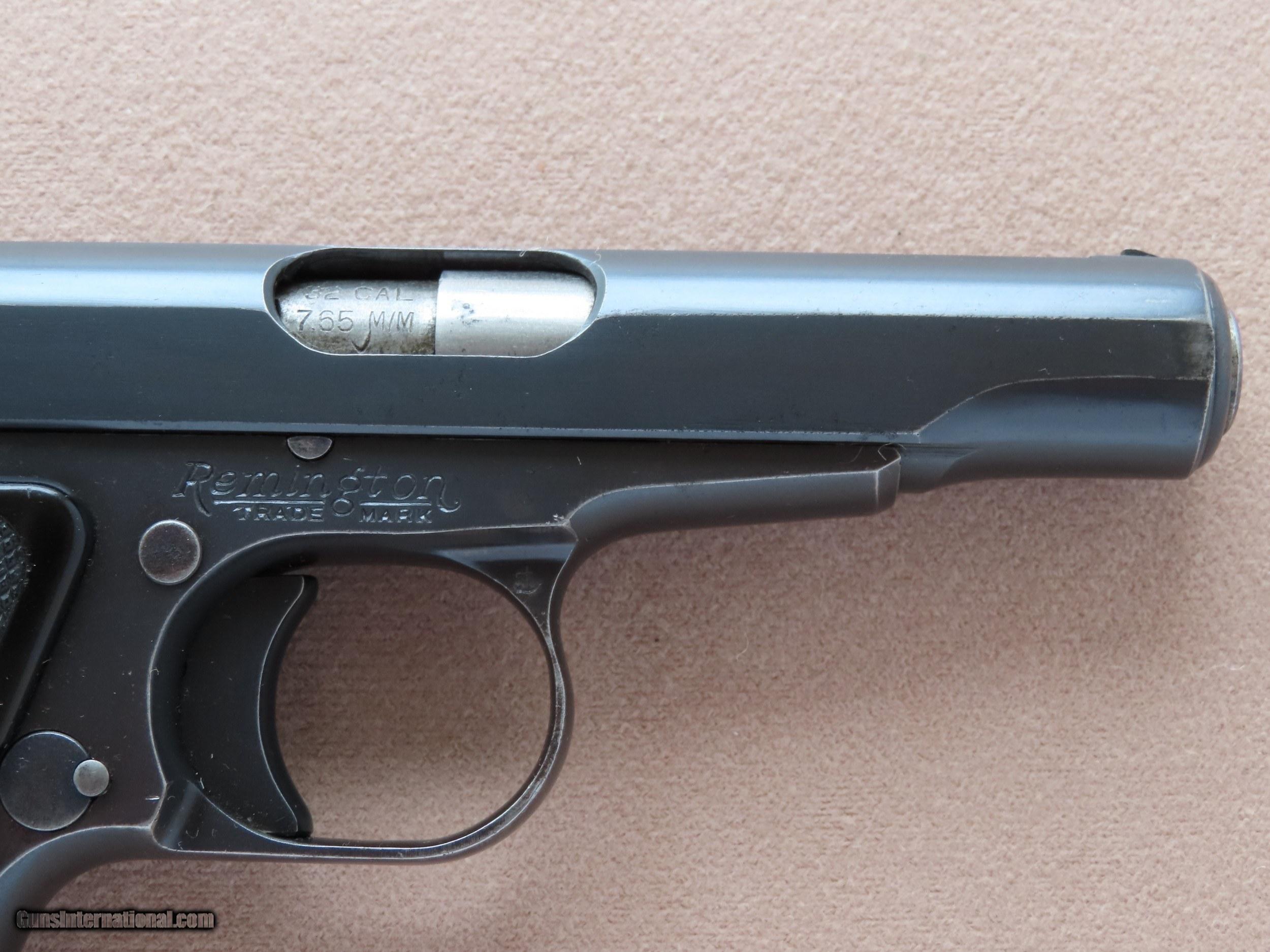 1923 Vintage Remington UMC Model 51  32 ACP Pistol ** Nice