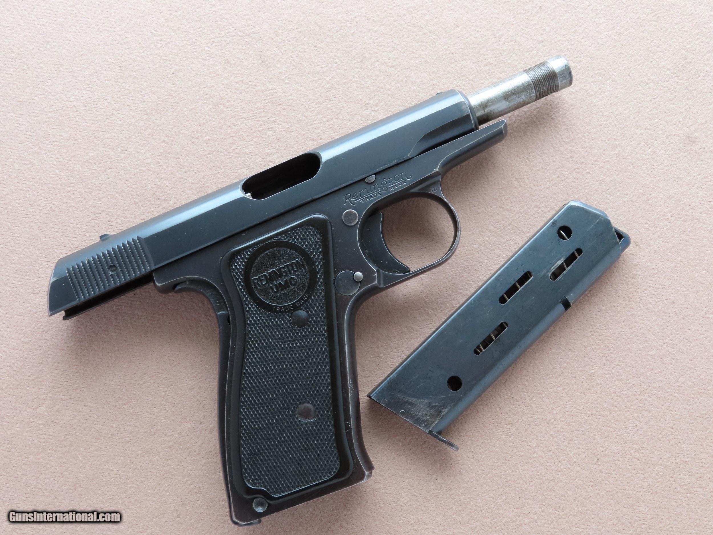1923 Vintage Remington UMC Model 51  32 ACP Pistol ** Nice Honest