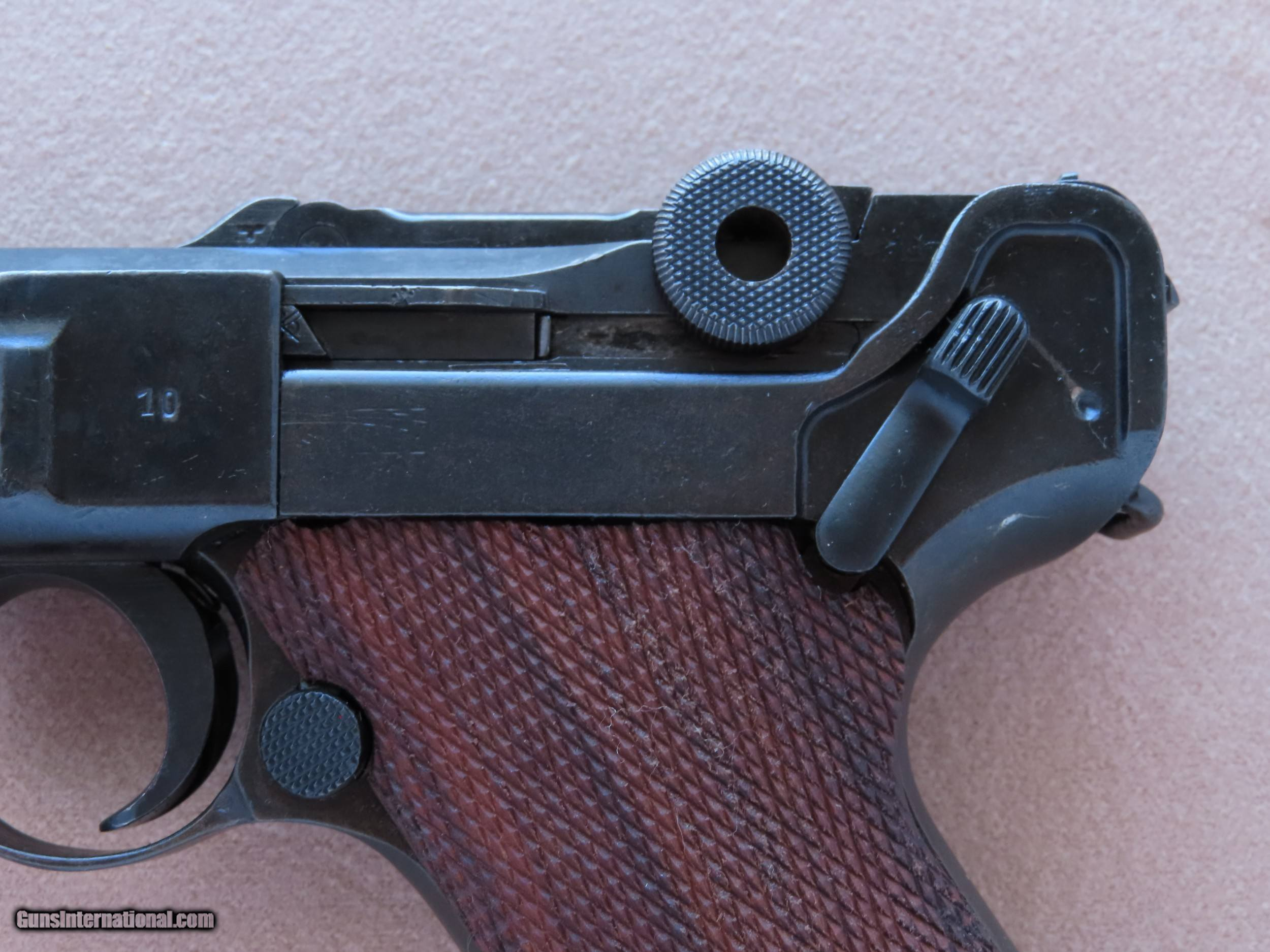 WW2 Russian-Capture Luger Pistol in 9mm Luger ** Good