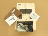 1977 Vintage Walther P-38 9mm Pistol w/ Original box, Manual, Test Target, Extra Mag, Etc.